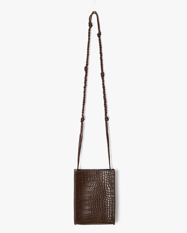 mini square crocodile bag