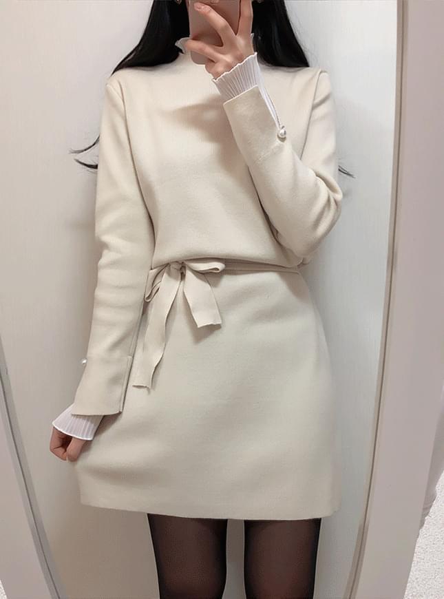 Lunar Lace Knit Dress