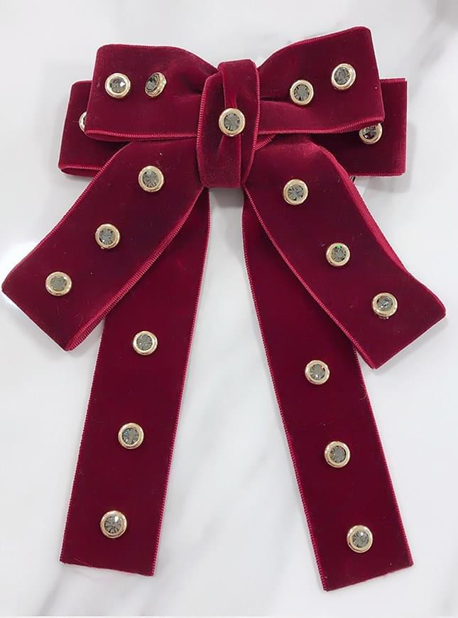 Rock Stud Ribbon Brooch