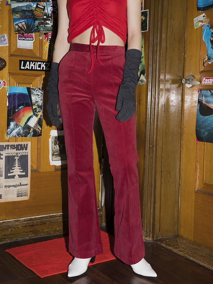 corduroy boots-cut pants