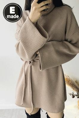 Knit Jersey Turtle Dress