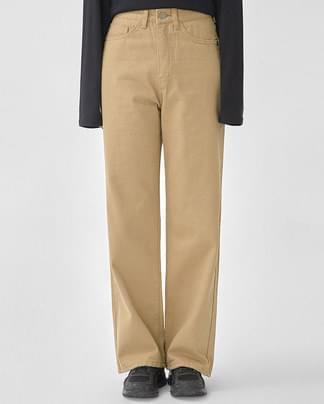 via straight cotton pants