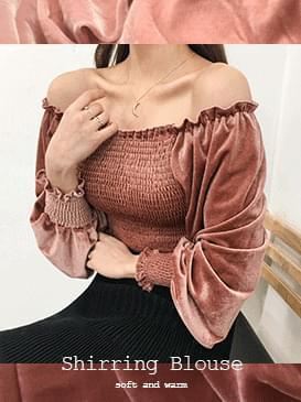 Velvet Celine Shirring Blouse