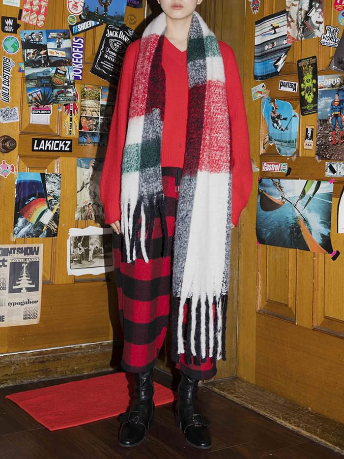 check shawl muffler
