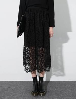A cappella lace skirt