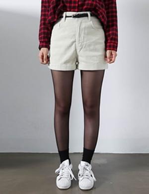 Camber's golden shorts