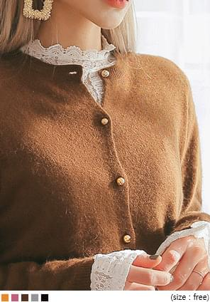 ANGORA WOOL 60% KNIT CARDIGAN