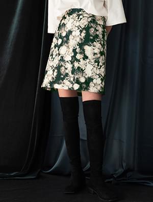 water color flower skirt