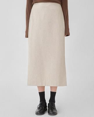 bread wool slit skirt