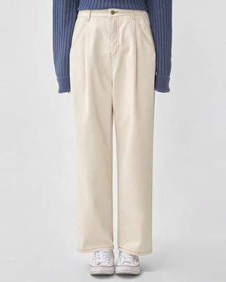 lucky stitch cotton pants