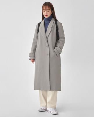 plan side button long coat