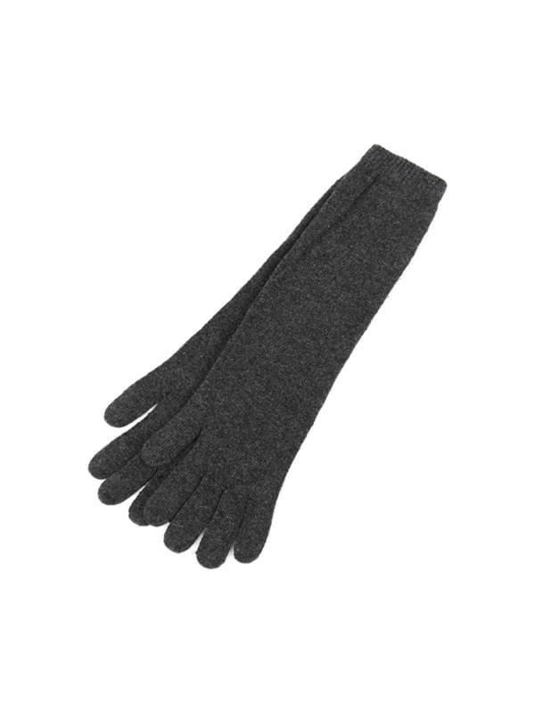 wool long knit gloves