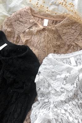 Glowed lace blouse