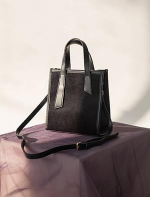 two strap corduroy bag