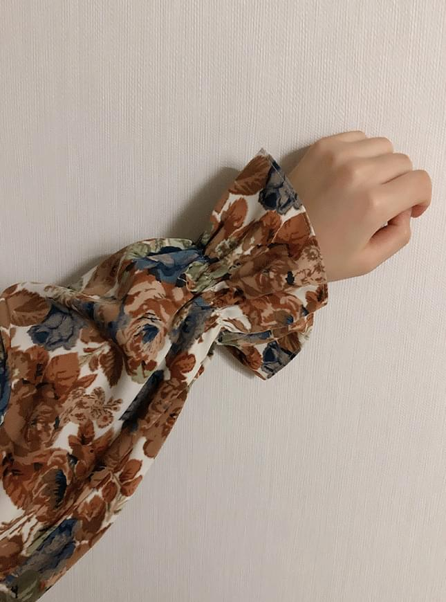 ♥ vintage flower blouse