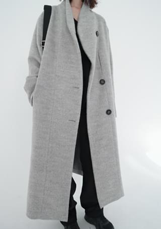 one side bold button coat (2colors)