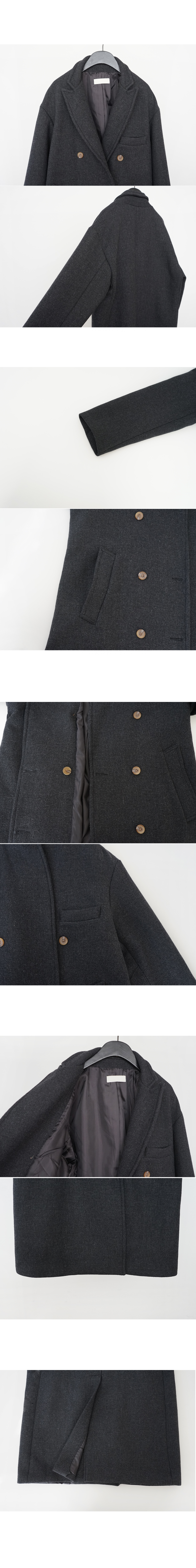 herringbone double wool coat (2colors)