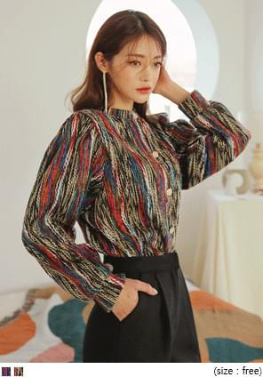 WING COLOR MIX GOLD KNIT CARDIGAN