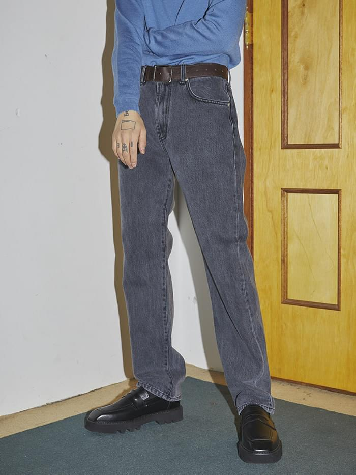 straight-fit gray jeans - UNISEX