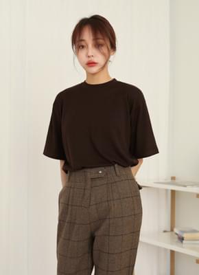 Plain brushed short sleeves Tee