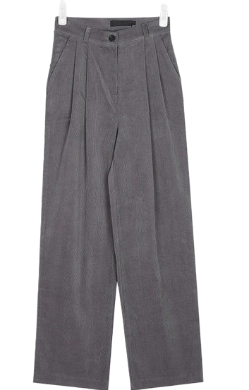 ground pintuck coduroy pants