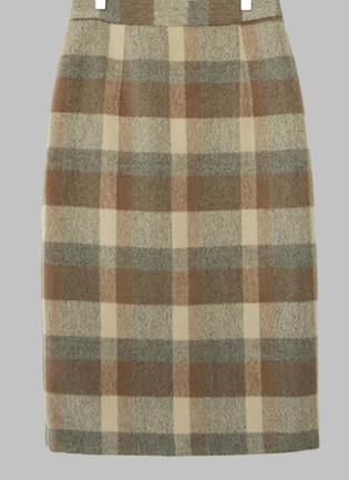 Youandme-checked skirt