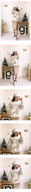 Snow Knit Midi Skirt
