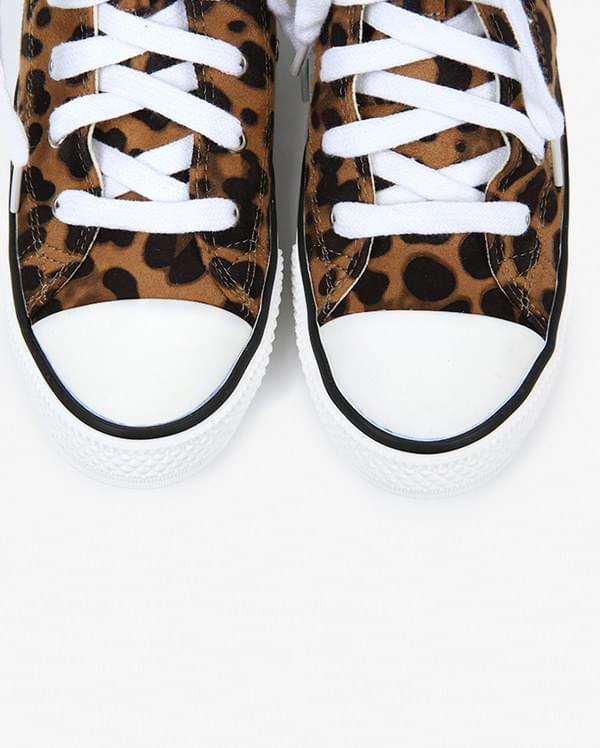 leopard high canvas sneakers