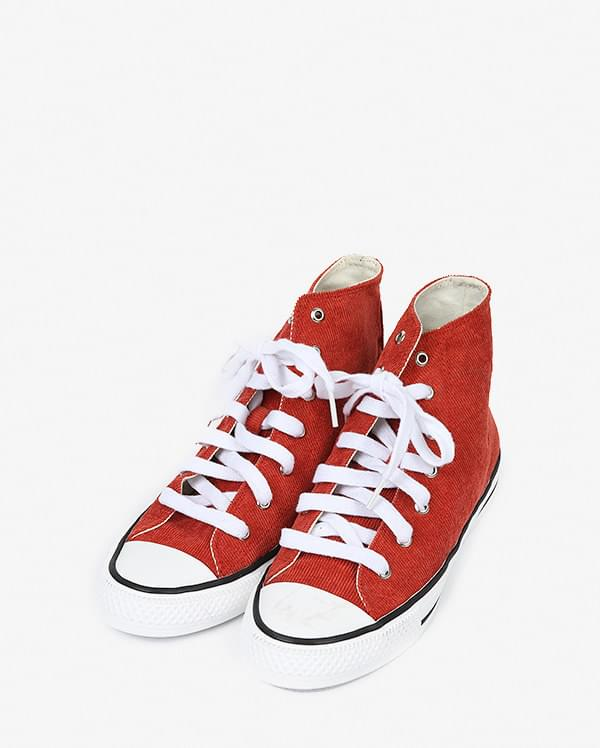 corduroy high canvas sneakers