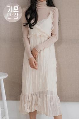 Brushed chiffon dress