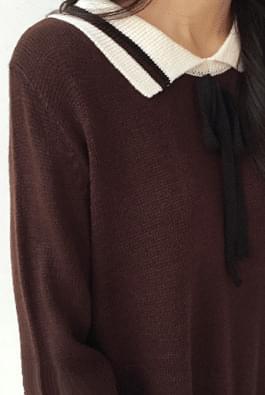 Petit ribbon knit dress