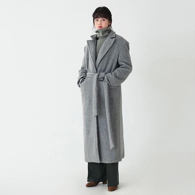 robe maxi wool coat