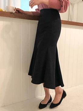Brushed Cotton Mermaid Long Skirt