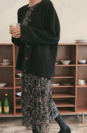 January-loose-fit cardigan