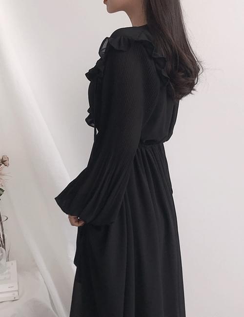 Roche frill long dress