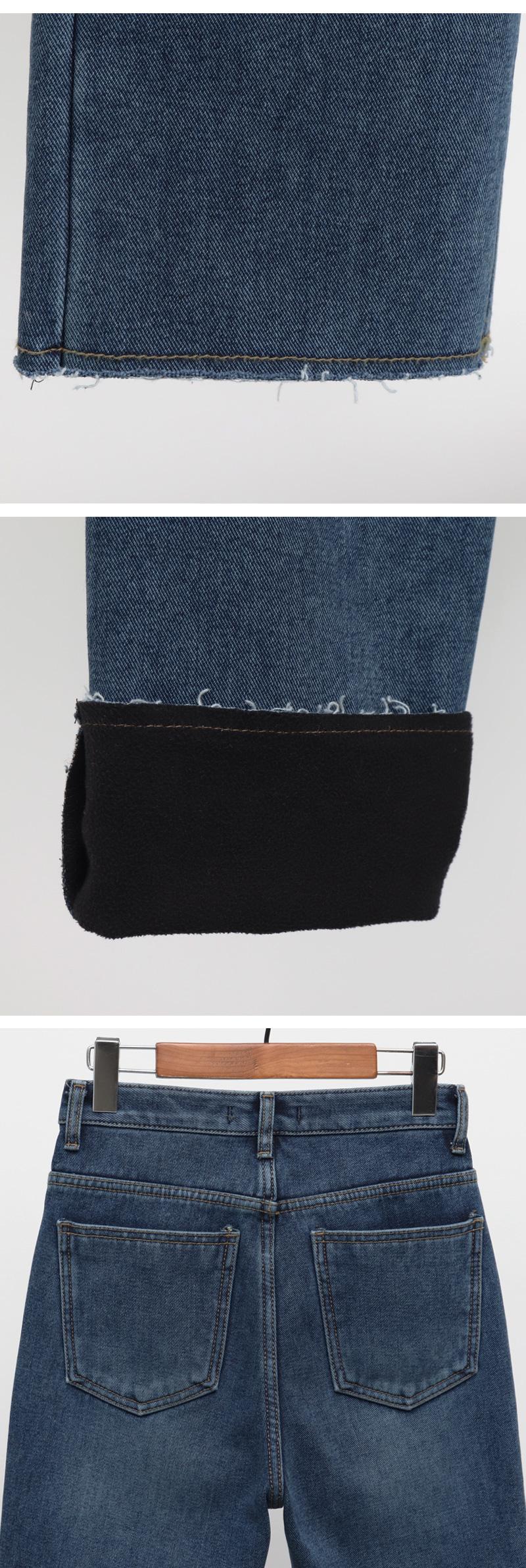Fleece warm cutting denim_B (size : S,M,L)