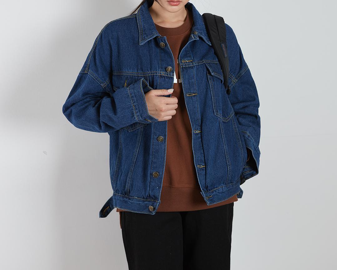 Basic Denim Button Jacket