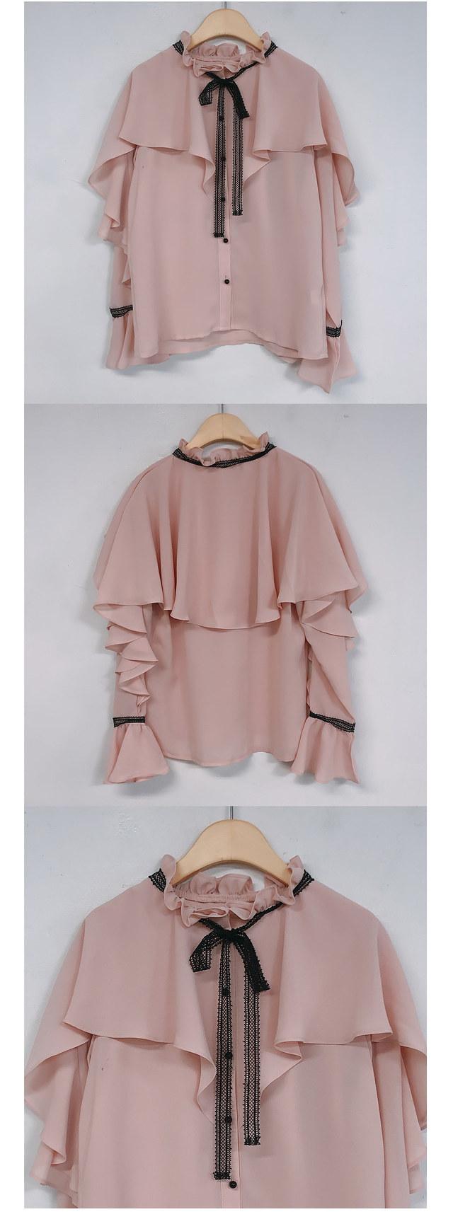 Viola lace ruffle blouse