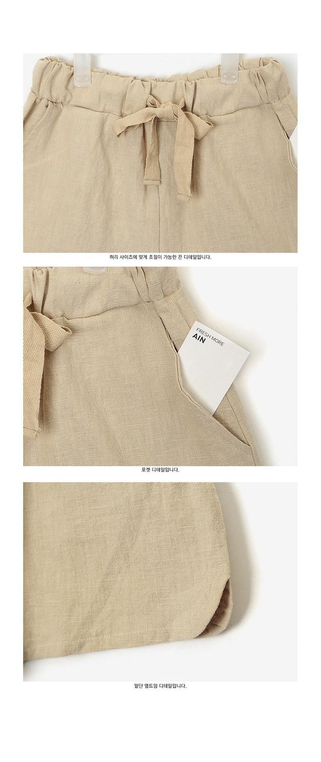 cooling linen short pants (s, m)