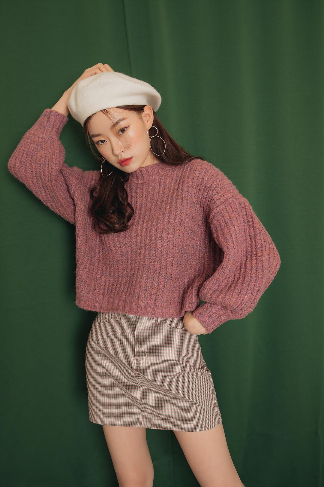 Mango puff knit