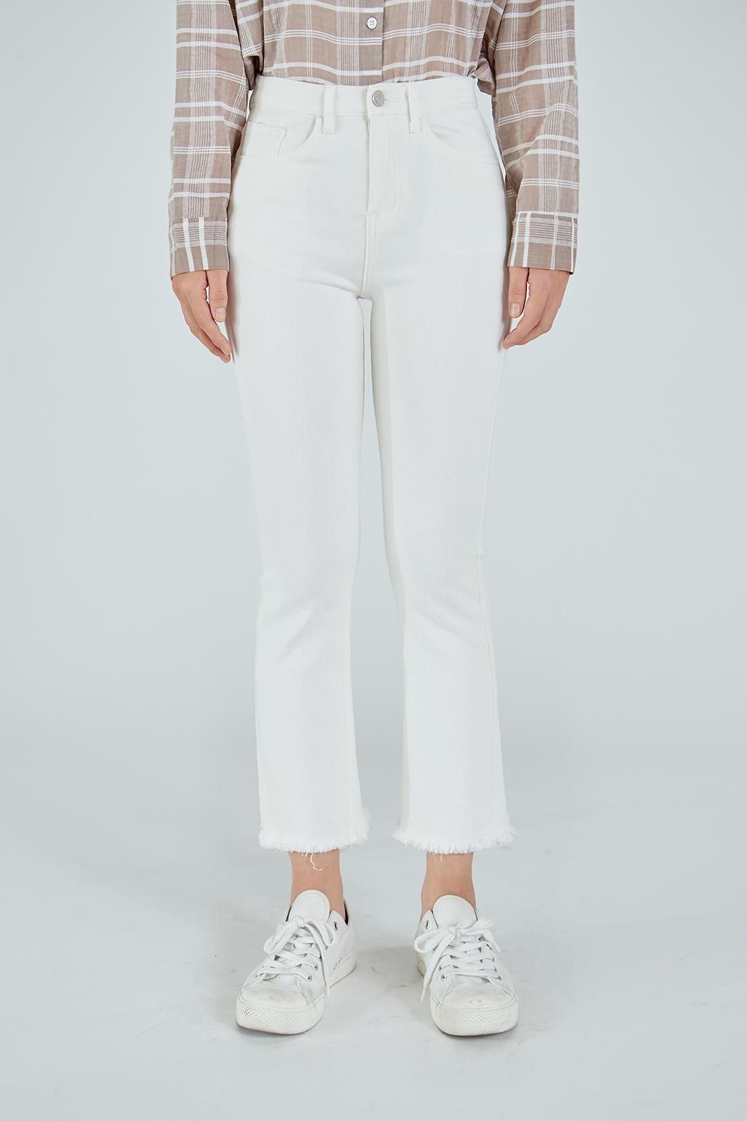 Semi Bootcut Cotton Pants