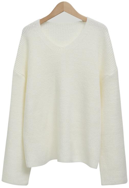 Loose golgi v-neck knit_B