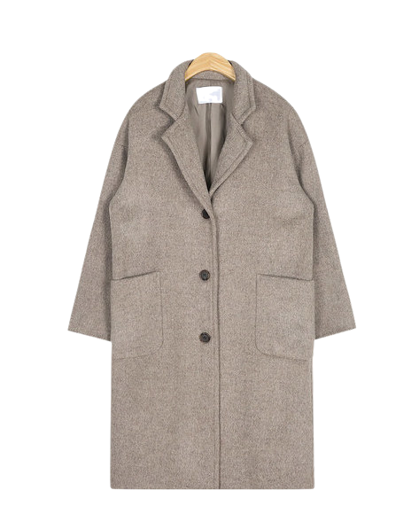 wool pocket single coat