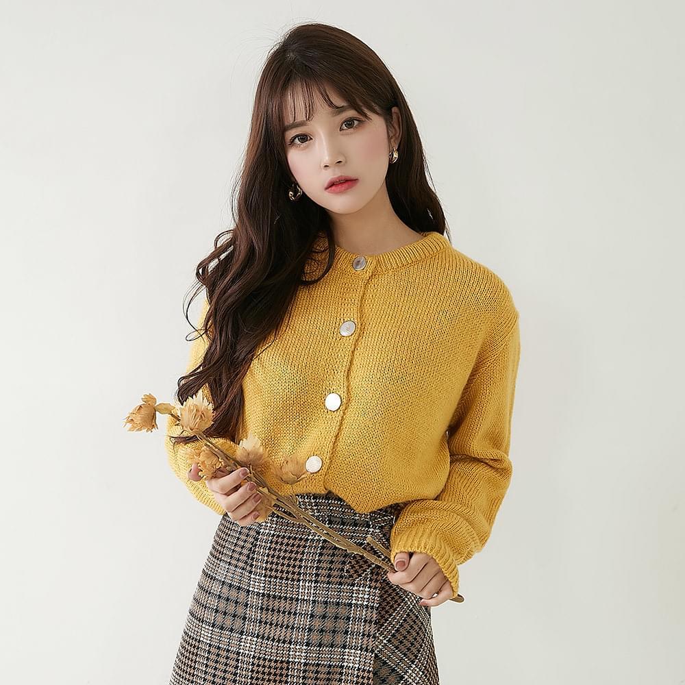Felted knit cardigan