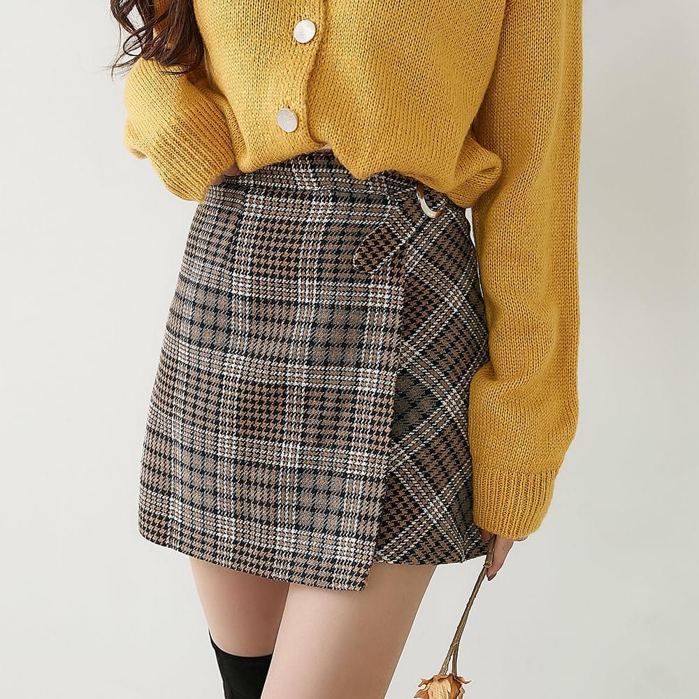 Morocco check skirt