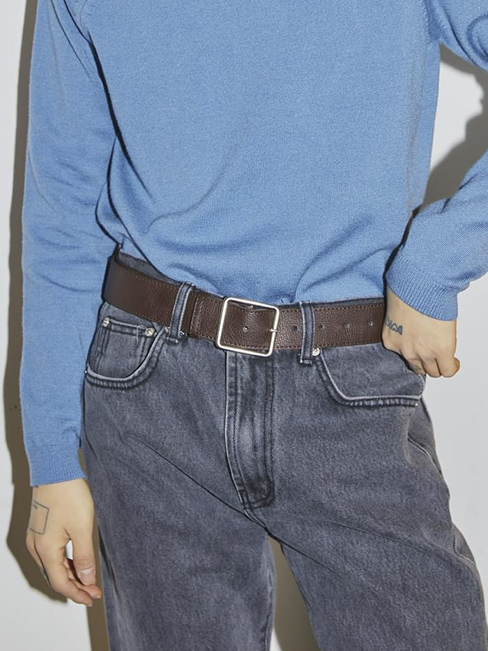 leather square belt