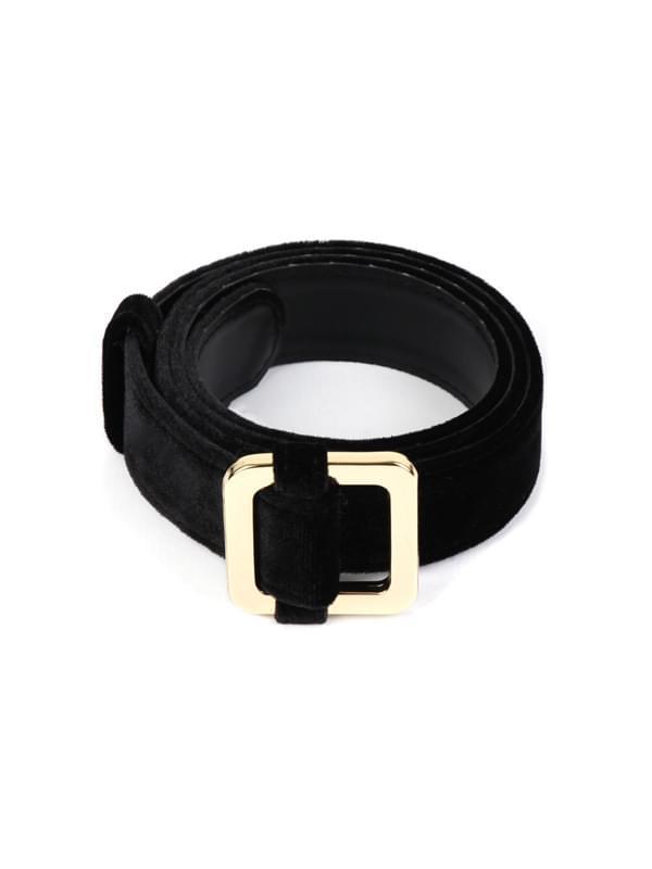 velvet square belt