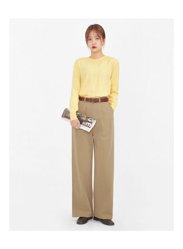robust pintuck cotton pants (s, m)