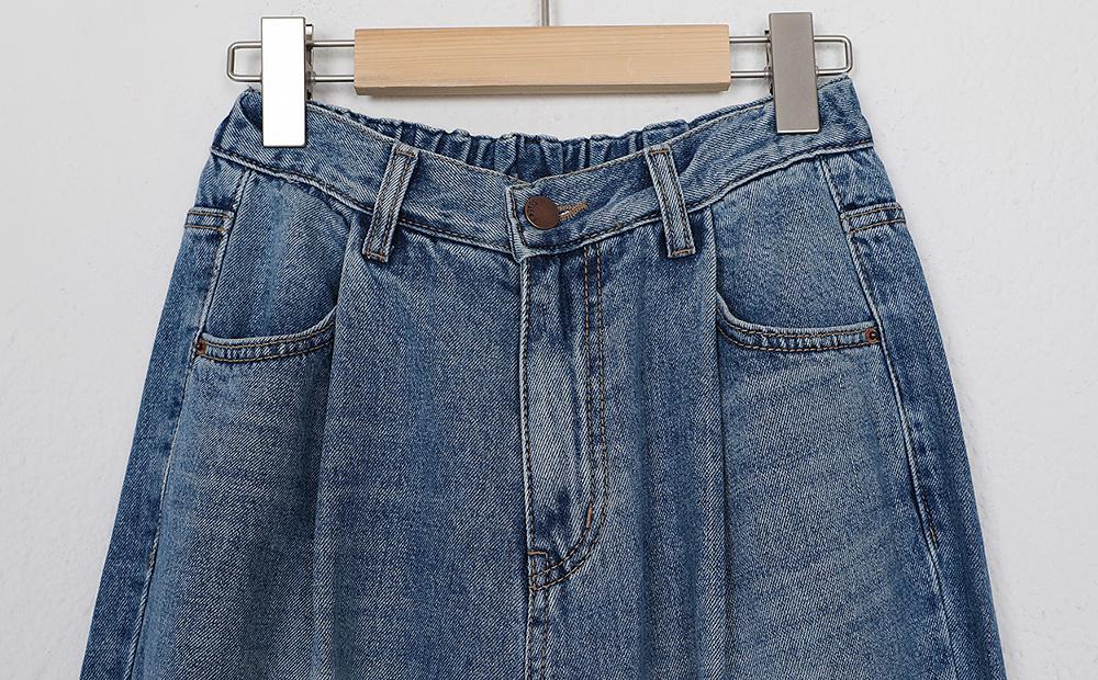 pintuck jogger denim pants