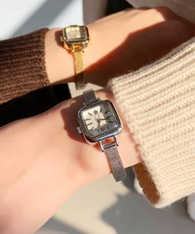 Square metal watch